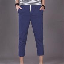 The new summer mens pants men loose linen pants casual pants image 4