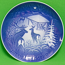 1980 B&G (Denmark) Christmas Collector Plate, Christmas In The Woods - $4.95