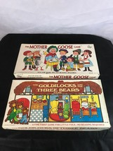 Lot of 2 Board Games: Goldilocks & the Three Bears + Mother Goose 1970 Complete - $22.99