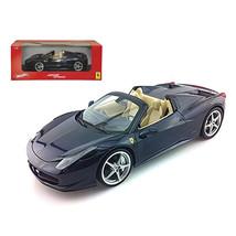 2012 2013 Ferrari Italia 458 Spider Dark Blue Metallic 1/18 Diecast Mode... - $68.02