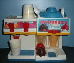 Vtg. Fisher Price Fun w/Food #2118 McDonald's Soda Fountain Comp/EXC++-NR MT M image 2