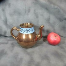 Antique Gibson Copper Luster Teapot with Blue Band, Nice Cond. - $22.43