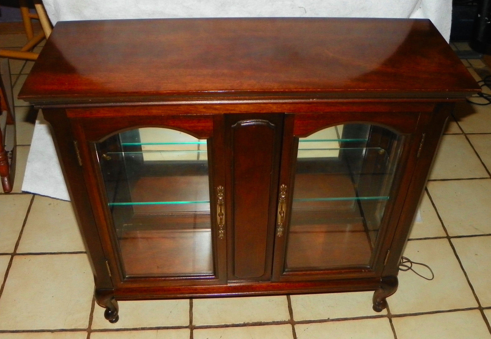 Cherry Lighted Curio Cabinet by Brandt - $399.00
