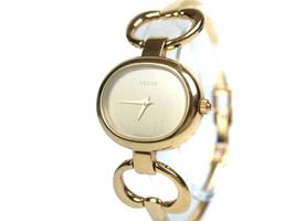 Auth GUCCI 1600 Gold Plated Quartz Ladies Watch GW16364L - $259.00