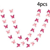 ADLKGG Butterfly Hanging Garland Party Decoration 4 Pack, 3D paper Butterfly Bun - $17.79