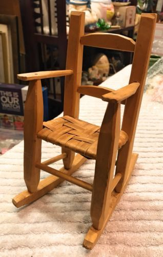 Handmade Wooden Small Rocker Doll size Natural Wood No Finish