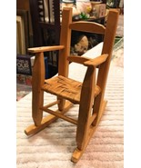 Handmade Wooden Small Rocker Doll size Natural Wood No Finish - $26.78