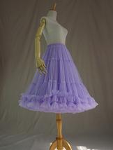 Burgundy MIDI Tulle Skirt Women High Waist Tulle Midi Skirt Ballet Dance Skirt image 11