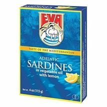 Podravka Eva Sardines, Lemon, 115g, 4.05 oz Pack of 30