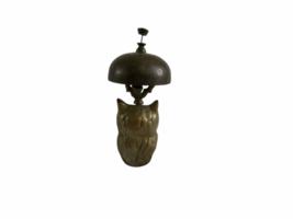 Vintage Hotel Motel Front Desk Solid Brass Owl Bellhop Service Clerk Bell image 4