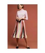 Women's Anthropologie Laia Striped Midi Skirt sz M - $86.04