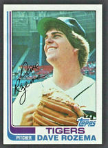 Detroit Tigers Dave Rozema 1982 Topps Baseball Card # 319 nr mt - $0.50