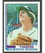 Detroit Tigers Dave Rozema 1982 Topps Baseball Card # 319 nr mt - $0.50