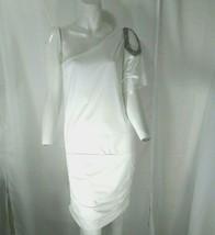 Forever 21 Women's White One Shoulder Dress Large - $23.76
