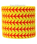 Set of SOFTBALL Thread Silicone Wristbands - Wholesale Wrist Band Bracel... - $4.93+