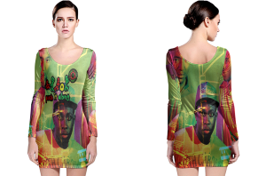 A tribe called quest long sleeve bodycon dress