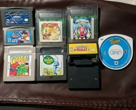 Lot of 8 Game Boy/Color Games PSP Mario Golf,Power Rangers,Tom & Jerry, ... - $16.35