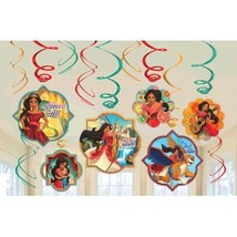 Elena of Avalor 12 Ct Swirl Decoration Value Pack Birthday Party - $7.49