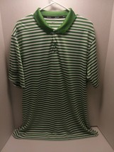 Nike Dri Fit XLT Men's Polo (AC Charity Golf Classic) green/ White Striped - $18.70