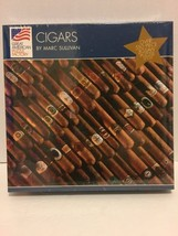 Great American Puzzle Factory Cigars by Marc Sullivan 550 pcs Jigsaw Puz... - $19.79