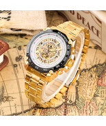 Stainless Steel Skeleton Mechanical Watch Automatic-self-winding Timepie... - $40.37