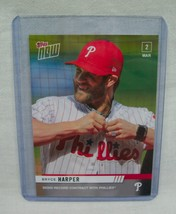 Topps Now Bryce Harper Philadelphia Phillies First Trading Card ST-3 Mint New - $14.85