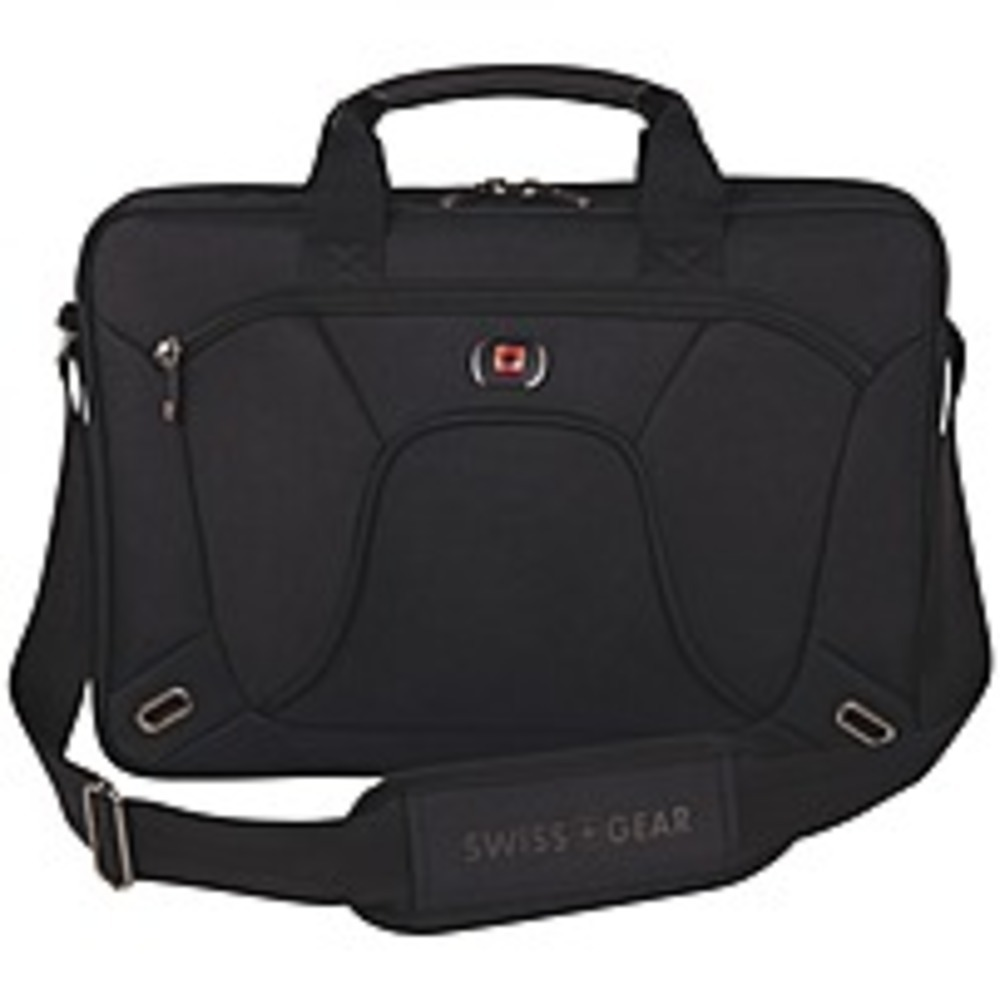 Wenger Carrying Case (Briefcase) for 16 Notebook - Black - Scratch Resistant Int