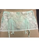 Victoria Secret Light Green Garter Belt Sheer Lace w/ Thong Size M/M NWT - $9.85