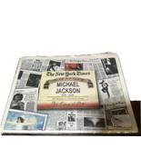 MICHAEL JACKSON NEW YORK TIMES 2009 COMMEMORATIVE NEWSPAPER LIFE & TIMES... - £13.81 GBP