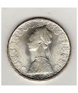 1958 Italy 500 Lire Silver Coin Very Nice - $12.58