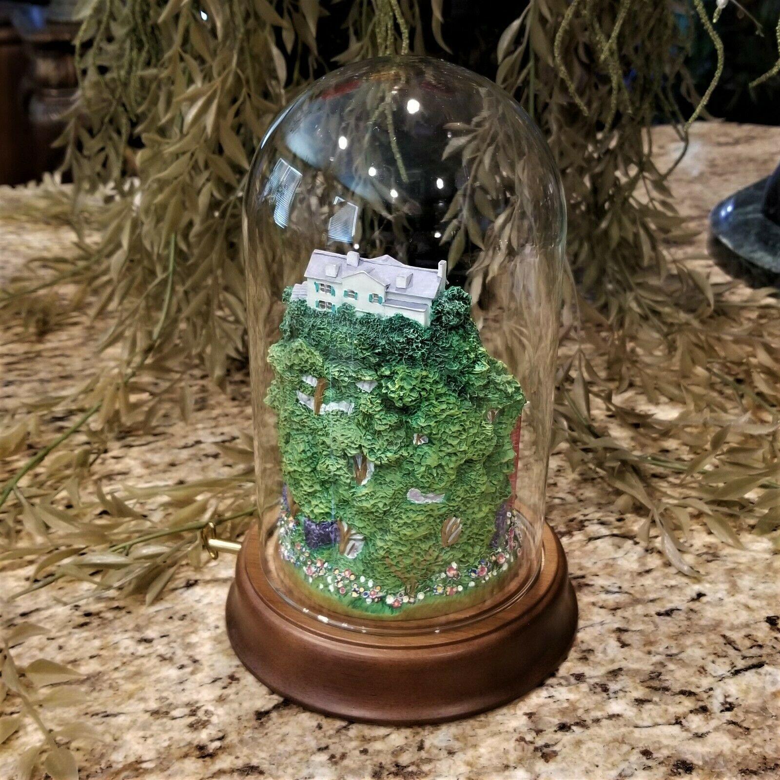 Franklin Mint Elvis Presley Graceland Love Me Tender Music Box Glass Dome Figure image 3