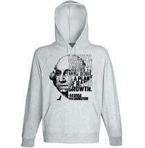 George Washington - Liberty- New Cotton Grey Hoodie - $31.88