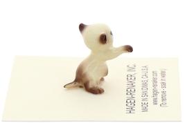 Hagen-Renaker Miniature Cat Figurine Tiny Siamese Kitten Boxing Chocolate Point image 3