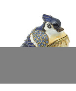 Non Metal Bejeweled Admiral Blue Jay Trinket Box (Length=3.5) (Width=2) ... - $48.71