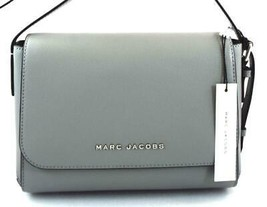 AUTHENTIC NEW NWT MARC JACOBS $250 LEATHER THE COMMUTER STORM GREY MESSE... - $143.09 CAD