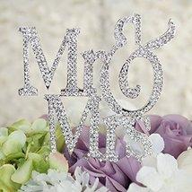 Mr & Mrs Monogram Cake Toppers Crystal Wedding Cake Topper Bling (Silver... - $14.07