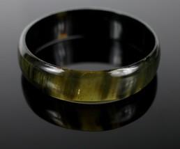 Vintage Green Amber Resin Fashion Plastic Cuff Bangle Bracelet Costume J... - $18.51