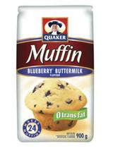 6 Bags Of Quaker Blueberry Buttermilk Muffin Mix 900 G Per Bag - $64.07