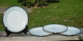 "Lot of  4 - Vintage Anchor Hocking 9"" DINNER PLATES - Swirl - Gold Rim - NEW - $9.90"
