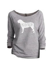 Thread Tank English Mastiff Dog Silhouette Women's Slouchy 3/4 Sleeves Raglan Sw - $24.99+