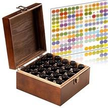 Essential Oil Storage Box Organizer 25 Bottle - Holds 5-15ml & 10ml Roll... - $16.88
