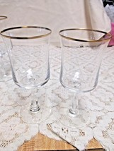 "Noritake Admiration Crystal Water Glasses Goblets 7"" Set of 2 - $19.00"