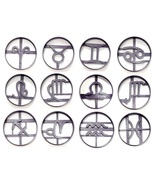 Zodiac Signs Astrology Horoscope Symbols Set of 12 Cookie Cutters USA PR... - $34.99