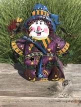 Tin Halloween Witch Tealight Votive Candle Holder - $9.85