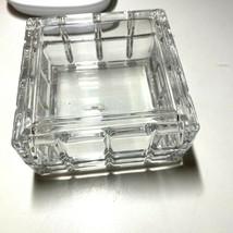"""Avon Perceive 24% Lead Crystal Glass Square Trinket Box 3.5"""" x 3/5"""" - $24.99"""