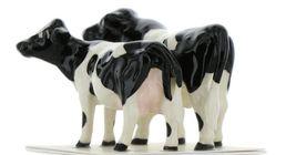 Hagen Renaker Miniature Holstein Bull and Cow Ceramic Figurine Set image 6