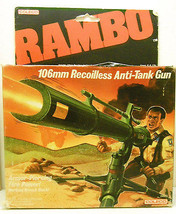 1986 Coleco Rambo 106mm Recoilless Anti Tank Gun Sealed Box - $21.03