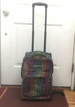 Rainbow Animal Print Jansport Rolling Backpack Travel Bag - $149.99