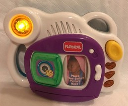 1999 Hasbro Playskool Baby Pictures Camera Personalize w/4 Photos Lights... - $24.74