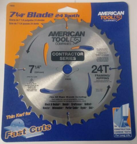 "Primary image for American Tool 15630 7-1/4"" x 24T Framing / Ripping Carbide Saw Blade"